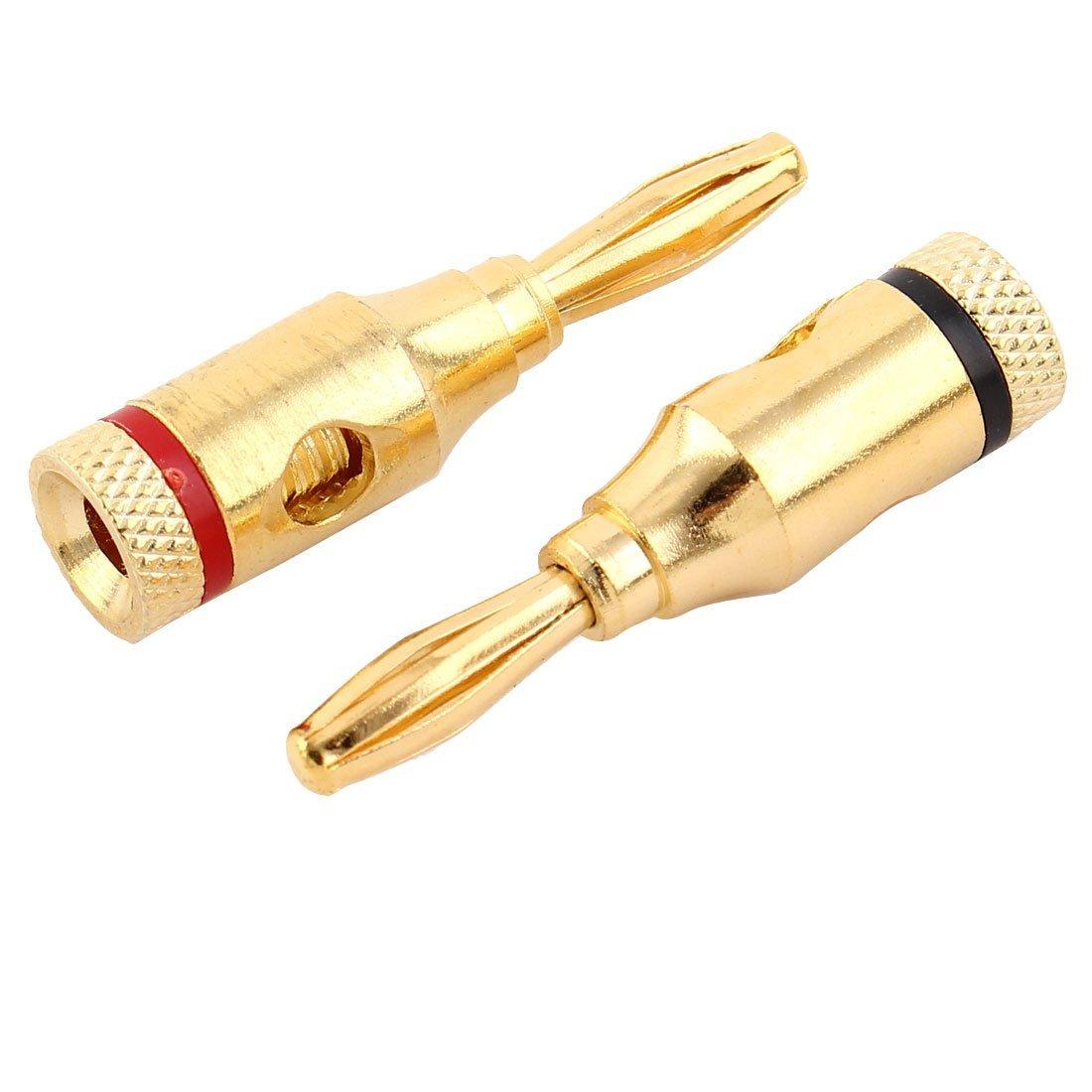 Amazon.com: Conector eDealMax Musical Cable Audio del altavoz de alambre abierta Tornillo tipo Banana DE 4 PCS: Industrial & Scientific
