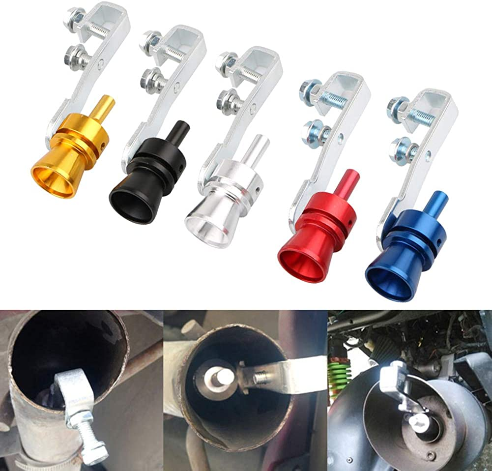 SSNsvj Automobile Universal Modified Exhaust Pipe Sounder,Turbo Sound Exhaust Automatic Blow Valve Simulator Car Tail Roar Whistle Blow Valve BOV Simulator Blue S