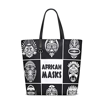 c001030909 Image Unavailable. Image not available for. Color  LORVIES Women African  Masks Set Tote Bag ...