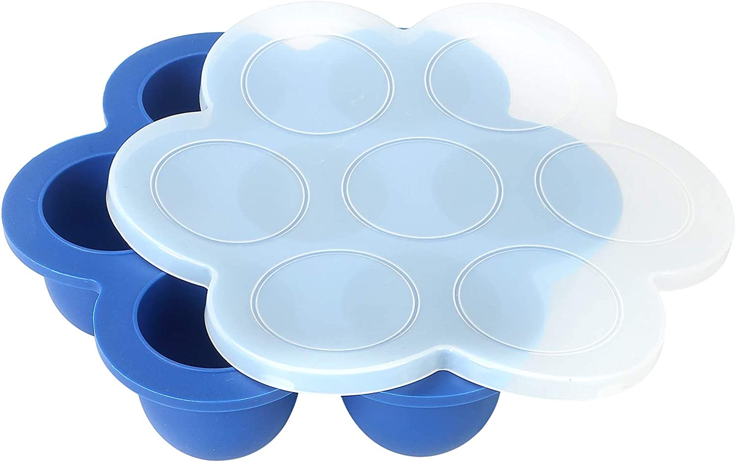 Egg Bites Mold for Instant Pot Accessories by ULEE - Fits Instant Pot 5,6,8 qt Pressure Cooker/Air Fryer and Ninjia Foodie 6.5, 8qt (Classic Blue)