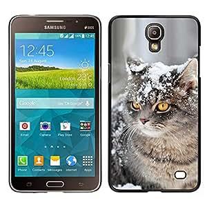 // PHONE CASE GIFT // Duro Estuche protector PC Cáscara Plástico Carcasa Funda Hard Protective Case for Samsung Galaxy Mega 2 / American Curl Shorthair British Cat Snow /