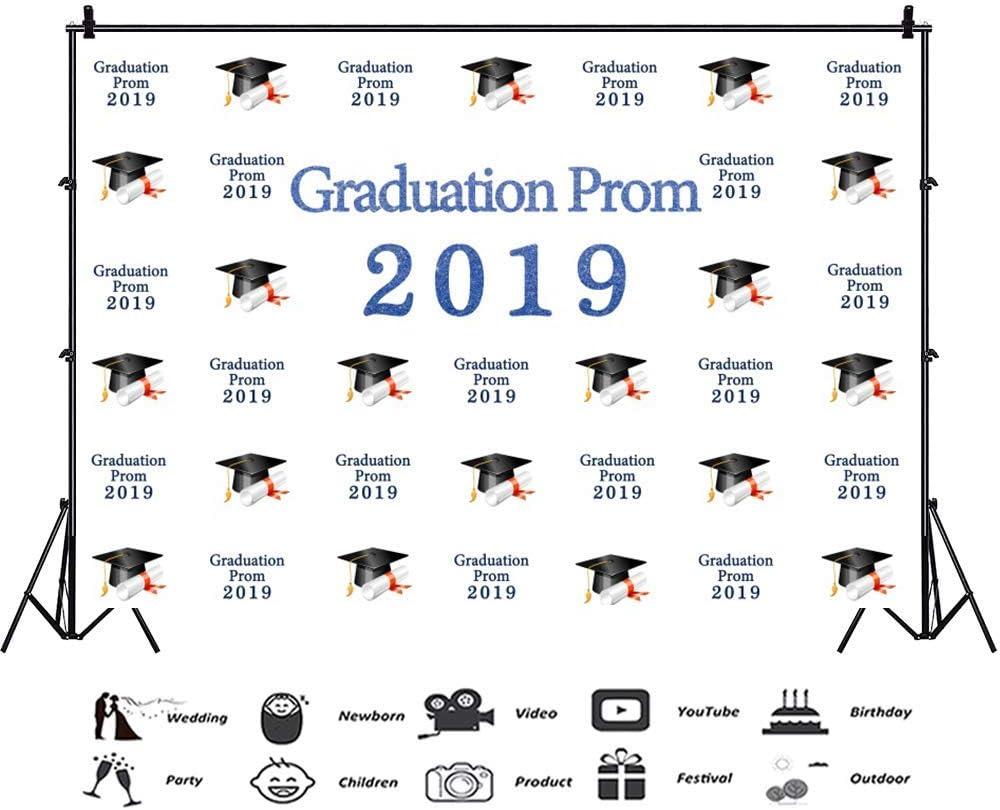 Graduation Prom 2019 Background 10x7ft Vinyl Photography Backdrop Trencher Gap Academic Diploma Graduate Students College School Party Banner Decoration Portraits Shoot Studio Photo Props