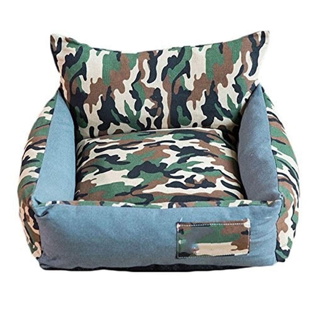 Chunchun Pet Nest Soft Washable Basket,Self Warming and Breathable Pet Bed Cushion Camo Nest Scratch Proof (Size : 65x75x24cm) by Chunchun
