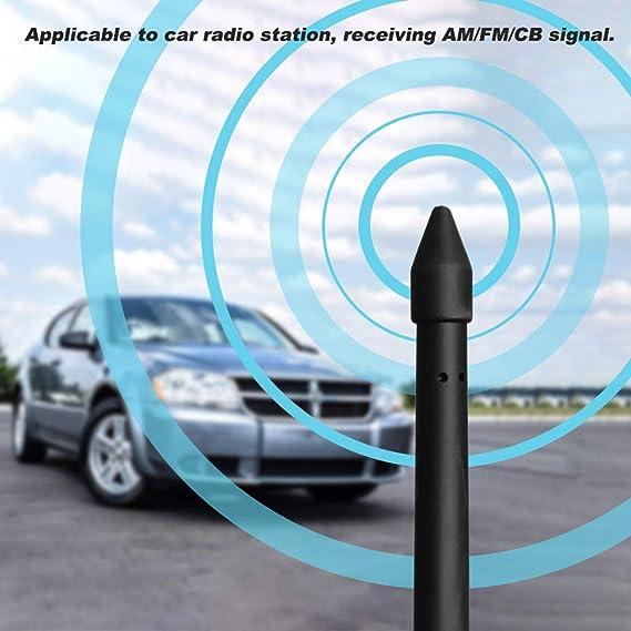 "AM//FM Aerial Radio 8/"" Black Antenna Signal Reception For 2005-2011 DODGE NITRO"