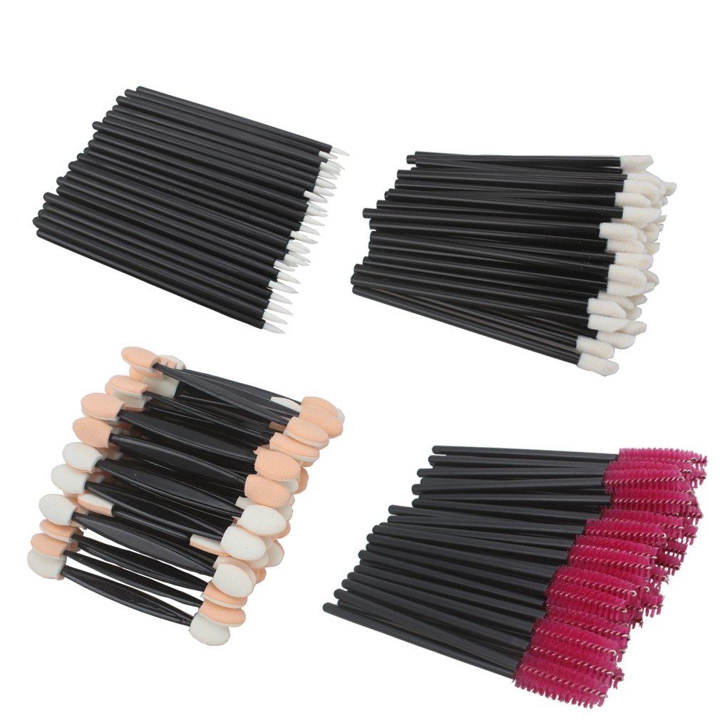 AOPRIE 200 Pieces Disposable Dual Sided Eyeshadow Brushes Lip Brushes Eyeliner Brushes Eyelash Mascara Brushes
