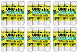 UHU Stic Permanent Clear Application Glue Stick, 0.29 oz, 12 Sticks per Pack (99450), 6 Packs