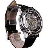 COCOTINA Men's Elegant Skeleton Dial Steampunk Mechanical Sport Army Wrist Watch
