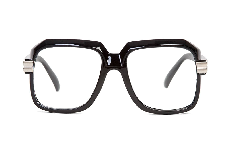 e06b789b87f Amazon.com  Hip Hop Rapper Retro Large Clear Lens Eye Glasses