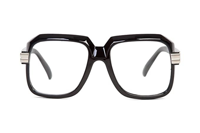 5313fbc4a410 Image Unavailable. Image not available for. Color  Hip Hop Rapper Retro  Large Clear Lens Eye Glasses
