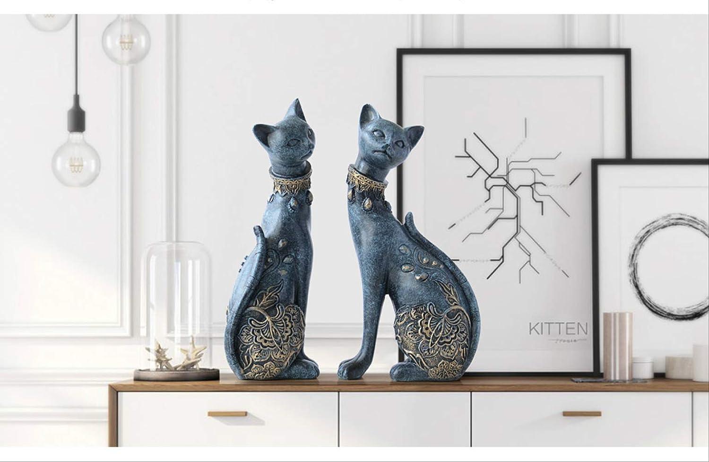 Statue Garden Ornament handicrafts Outdoor Furniture Decoration,Doll Cat Decoration Resin Statue European Creative Wedding Gift Animal