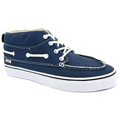 3f788d5999caf Vans Chukka Del Barco Mens Canvas Mid Boat Shoes Navy White - 11 ...
