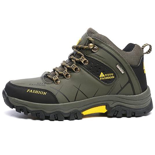 Gomnear Herren Wandern Stiefel Low Top Trekking Schuhe Non Slip Breathable Wasserdichte Walking Klettern Sneakers,Grau-46