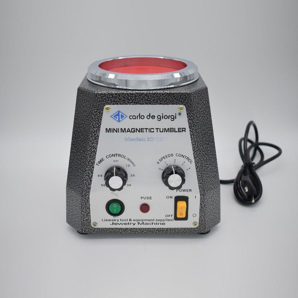 HUKOER Máquina pulidora magnética Vaso de Diámetro 100 mm, 4 velocidades Opcionales Herramientas de destacable capacidad para pulir detalles intrincados, ...