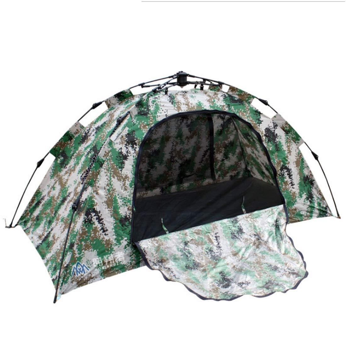 Jakiload Automatisches tragbares Zelt, 1 Person für Das Wilde Kampieren (Farbe : Camouflage)