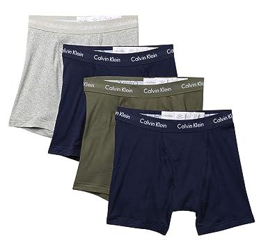 eea79ff0105 Calvin Klein Men s Underwear Cotton Stretch 4 Pack Boxer Briefs at ...