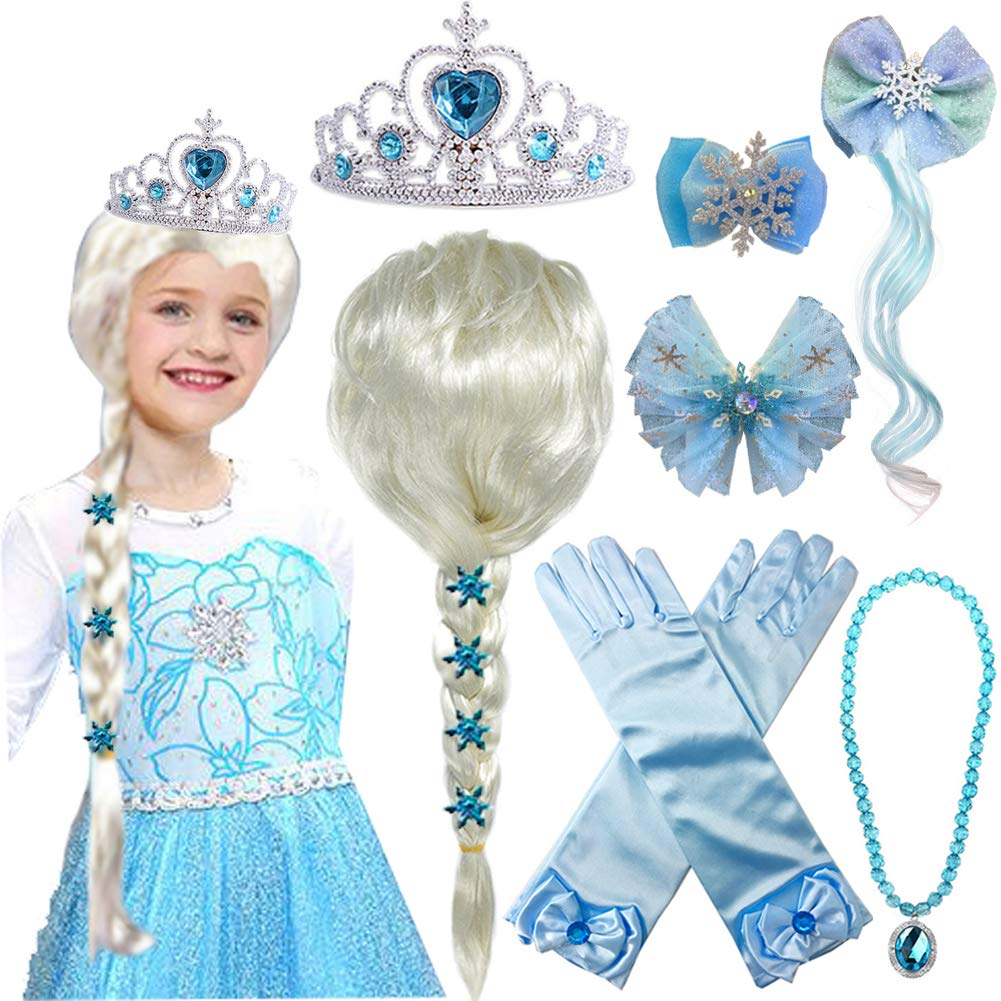 Princess Elsa Wig Costume Accessories