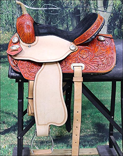 HILASON WESTERN LEATHER FLEX TREE BARREL RACING TRAIL RIDING HORSE