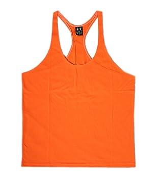 3e28572124587 Plain Stringer Vest (Orange