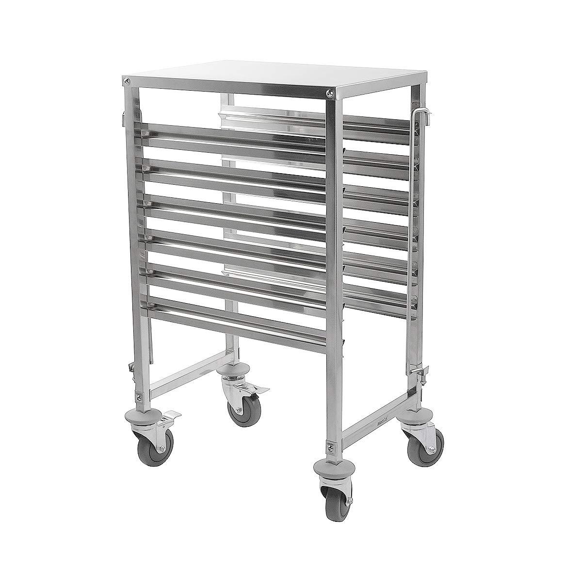 iMettos - Carrito de 6 estantes con mesa de trabajo para GN Pan 1/1: Amazon.es: Hogar