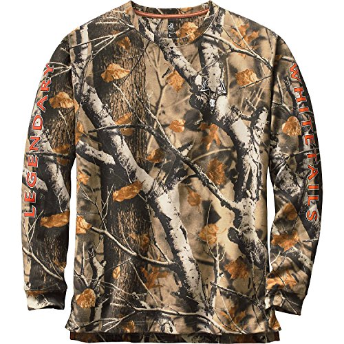 Legendary Whitetails Men's Non-Typical Series Long Sleeve T-Shirt Big Game Field Camo Small (Camo Field Shirt)