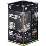 アイリスオーヤマ LED電球 フィラメント 口金直径26mm 60W形相当 電球色 全配光タイプ クリア LDA7L-G-FC