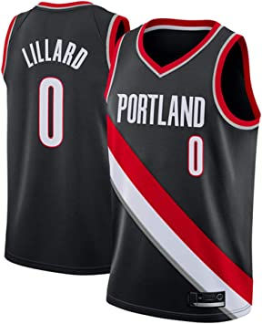 PANGOIE Hombre Mujer NBA Portland Trail Blazers 0# Lillard Retro T ...