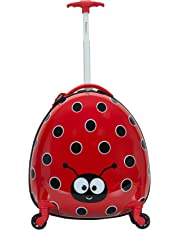Rockland Jr. Kids' My First Luggage-Polycarbonate Hard Side Spinner, LADYBUG