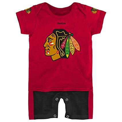 c9916beb4e4 Outerstuff Chicago Blackhawks Hockey Newborn Jersey Romper, 0-3 Months