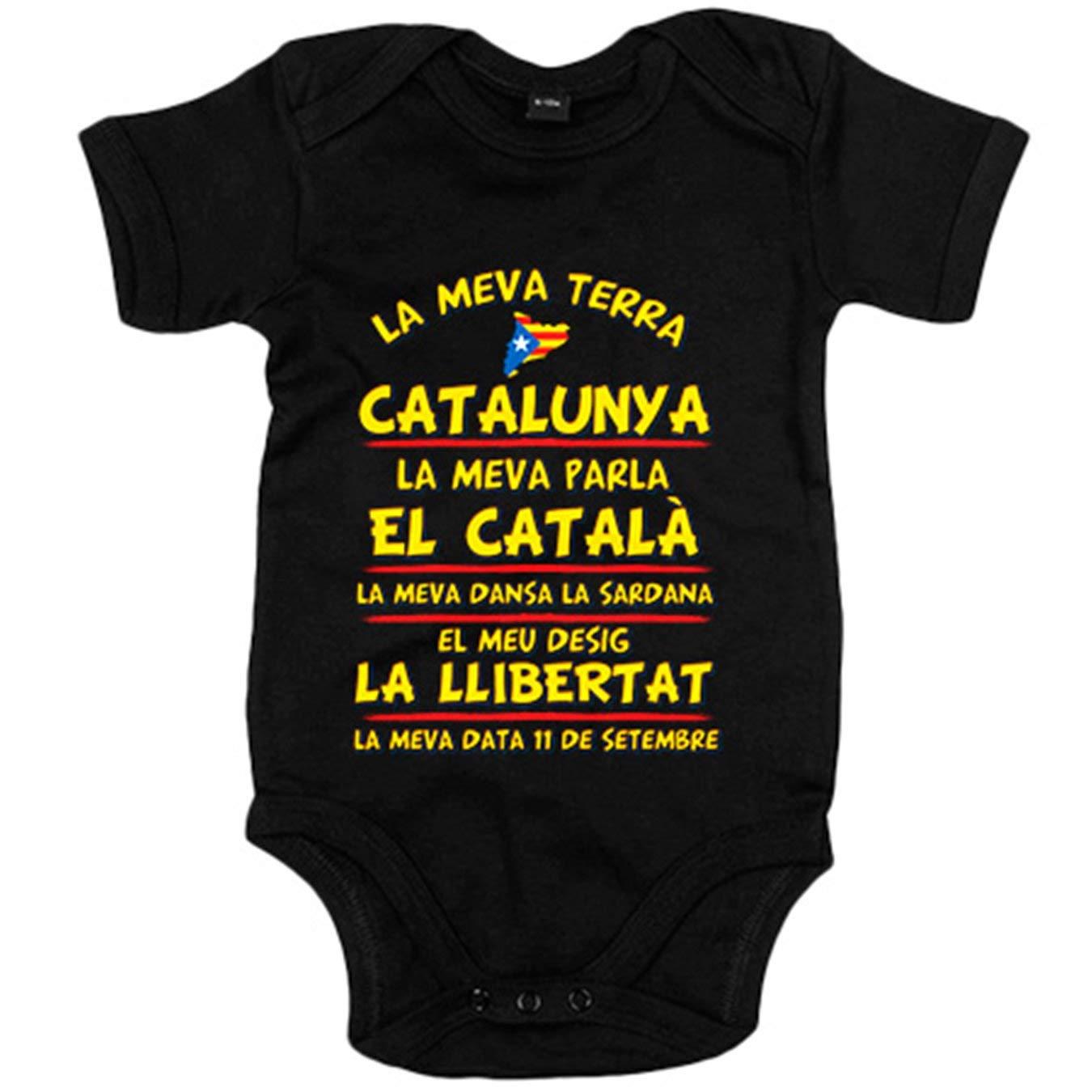 Body bebé La meva terra Catalunya - Blanco, 6-12 meses ...
