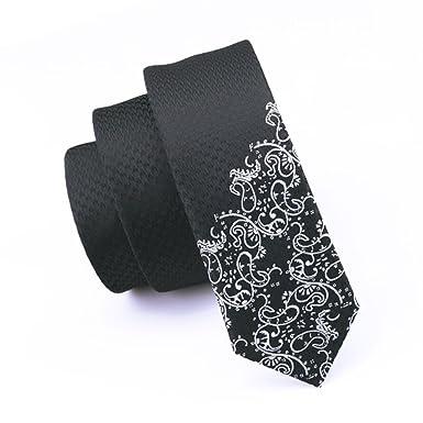 Jason&Vogue SlimLine Designer Krawatte schmal in schwarz weiße ...