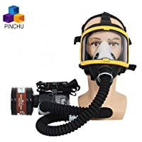 ZYC Electric Constant Flow Supplied Air Fed Full Face Respirator Gas Mask Blower...
