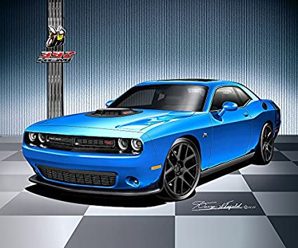 Amazon Com 2017 Dodge Challenger 392 Hemi Scat Pack Shaker B5 Blue