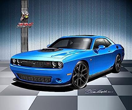 Blue Dodge Challenger >> Amazon Com 2017 Dodge Challenger 392 Hemi Scat Pack Shaker