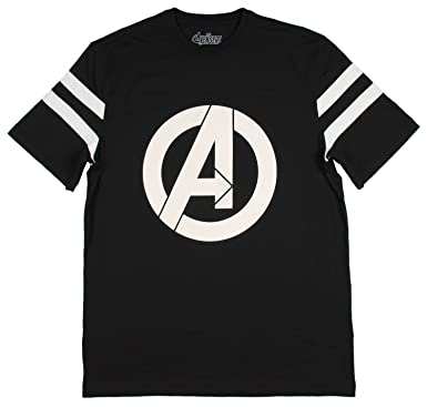 075da71cd4782 Marvel Womens Avengers Logo Varsity Football Tee Black
