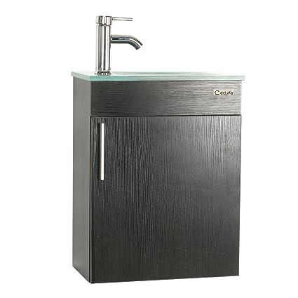 u eway wall mounted bathroom vanity and sink combo 184x 105 modern - Wall Mount Bathroom Vanity