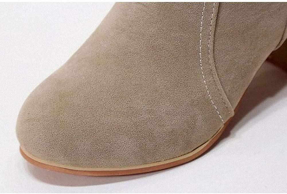 SwissWell Damen Stiefeletten mit hohen Absatz 7 cm Plateau Ankle Boots Kurz Stiefel High Heels Damen Schuhe mit Rei/ßverschluss