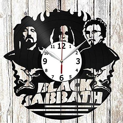 Black Sabbath Vinel Record Wall Clock Home Art Decor Original Gift Unique Design Handmade Vinyl Clock