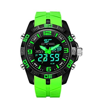 JIA&YOU Caliente estudiante electr¨®nico led juvenil tendencia sport reloj hombre adulto grande relojes