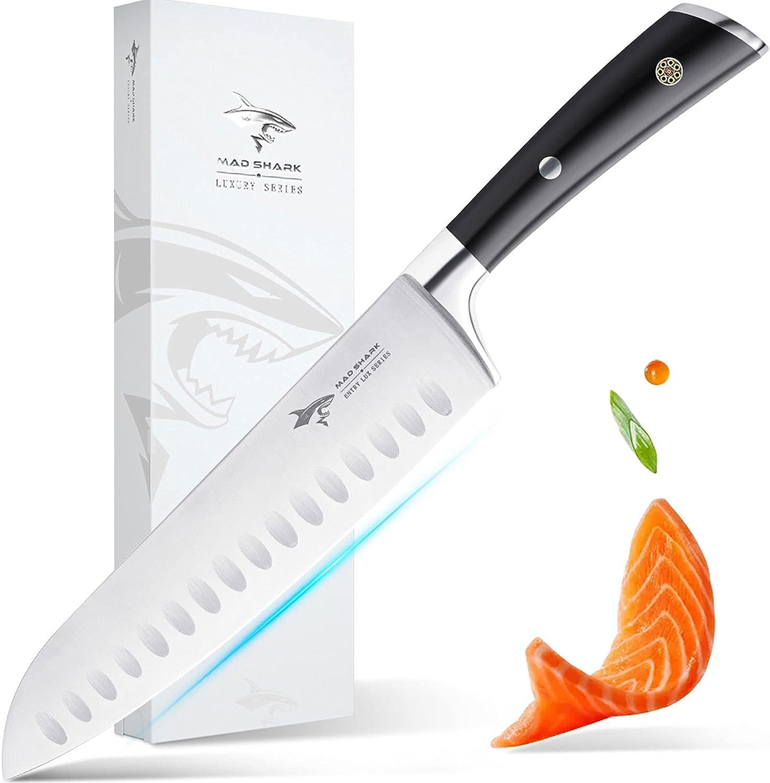 MAD SHARK Professional 8 Inch Santoku Knife