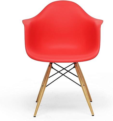 Baxton Studio Pascal Plastic Mid-Century Modern Shell Chair - a good cheap living room chair