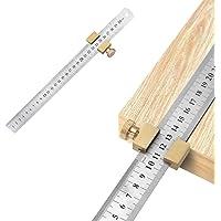 Yideng Roestvrij stalen liniaal houtbewerking liniaal positioneringsblok hout lijn Locator stalen liniaal met timmerman…