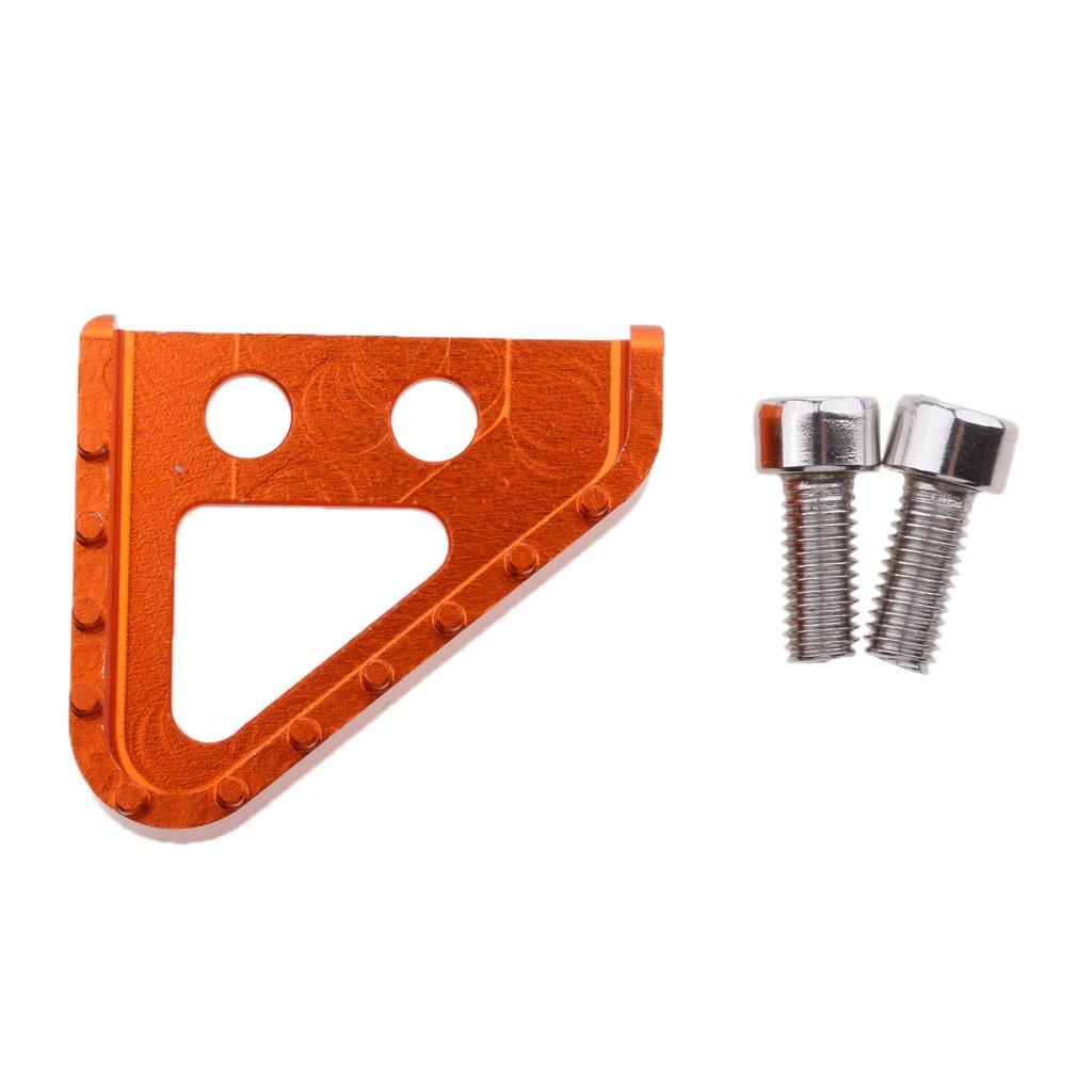 Sharplace Pedale Leva Freno Posteriore Passo In Alluminio Antiscivolo Per Moto KTM - Arancio