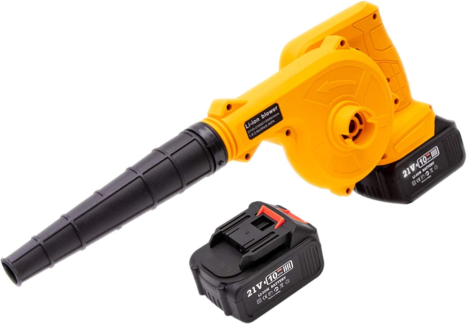 Leaf Blower Vacuum Slvoefi 21V 2 in 1 Leaf Blower / Vacuum Cordless with Battery & Charger, Electric Leaf Blower for Blowing Leaves, Snow Debris and Dust
