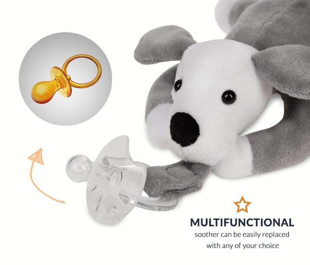 Amazon.com: Animal Infantil Chupete Chupete – fabricado con ...