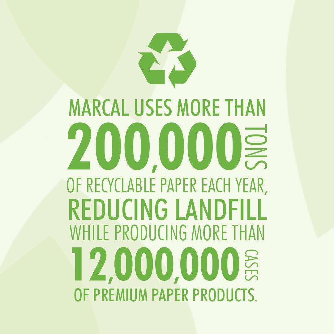 1000 Rolls 12 Rolls Per Case Marcal Pro Jumbo Roll Toilet Paper 2-Ply 100/% Recycled Green Seal Certified Professional Use Bath Tissue 60101