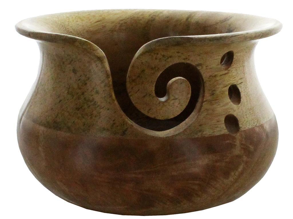 Susan Bates Bates Wood Yarn Bowl