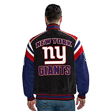 promo code 58d00 8ee4a G III New York Giants Suede Leather Jacket NFL Asst Sizes at ...
