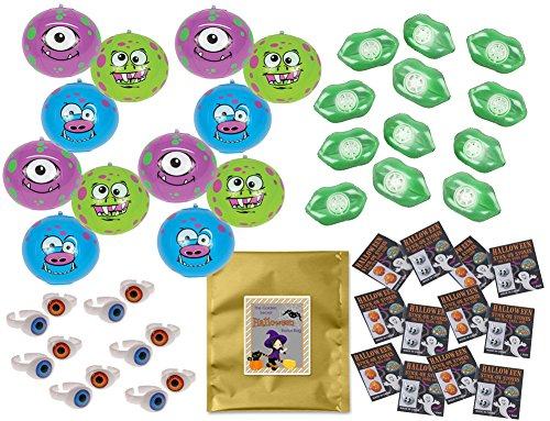 48 Piece Halloween Party Favor Bundle Assortment Pack of Toys for Kids Parties, Pinatas, Trick or Treat, Classroom or Carnivals