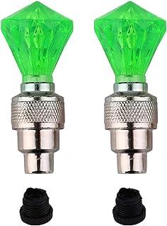 Kongqiabona Style Style Vélo Diamant Forme Roues LED Lumière Vélo Lampe Buse Flash Vélo Cap Valve Sports de Plein Air Vélo Lumière