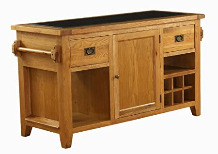 Vancouver oak granite top kitchen island unit amazon kitchen vancouver oak granite top kitchen island unit workwithnaturefo